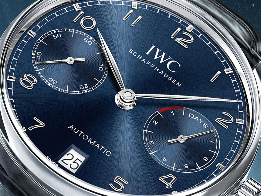 IWC Portugieser Quadrante Blu Automatico
