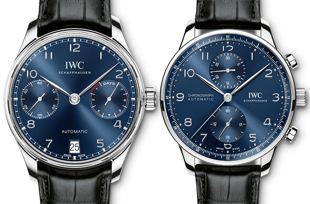 Replica IWC Portugieser Automatic Chronograph Quadrante Blu